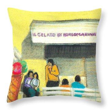 Il Gelato De Borgo Marina Throw Pillow