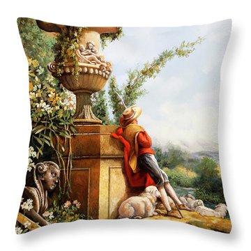 Il Pastore E Le Sue Pecore Throw Pillow