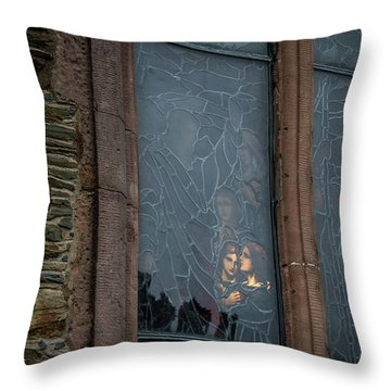 Illumination Stained Glass Throw Pillow