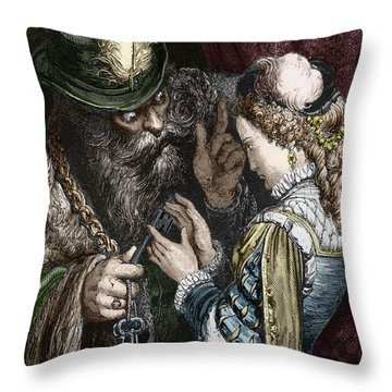 Illustration For Bluebeard By Charles Perrault, 1893 Throw Pillow