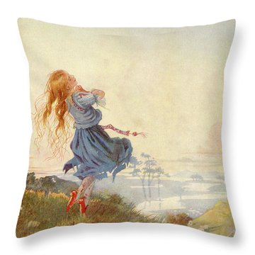 Illustration For The Red Shoes Throw Pillow