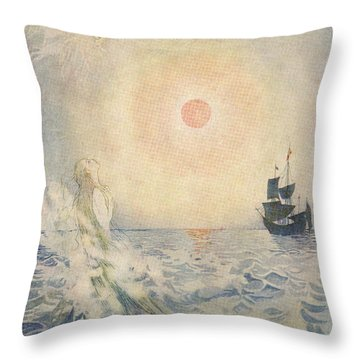 The Little Mermaid, Illustration From  Throw Pillow