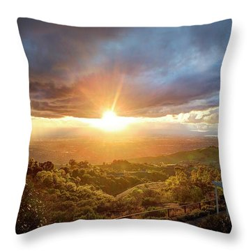 Throw Pillow featuring the photograph I'm Flyin', I'm Flyin' High Like A Bird by Quality HDR Photography