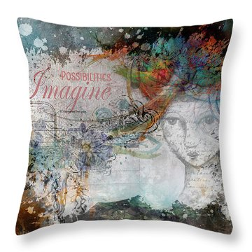 Imagine Possibilities Throw Pillow