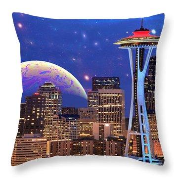 Imagine The Night Throw Pillow