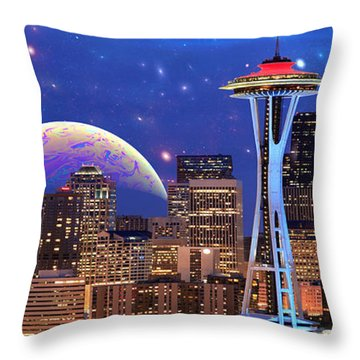 Imagine The Night Throw Pillow