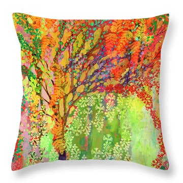 Immersed In Summer Throw Pillow