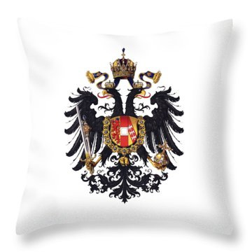 Imperial Coat Of Arms Of The Empire Of Austria-hungary 1815 Transparent Throw Pillow