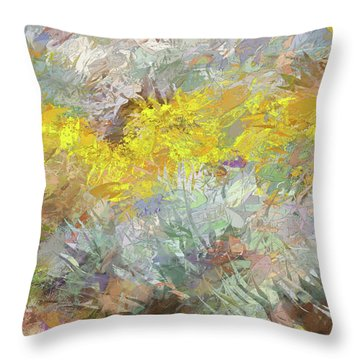 Impressions   Of Agave And Brittlebush Throw Pillow