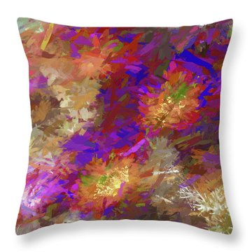 Impressions Of Cactus Flowers Throw Pillow