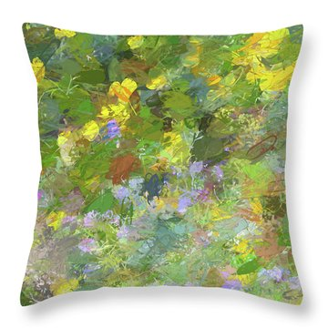Impressions Of Golden Poppies Throw Pillow