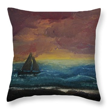 Impressions Of The Sea Throw Pillow