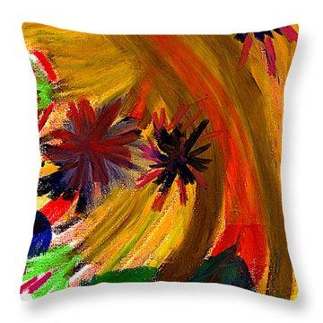 Improvisation #74 Throw Pillow