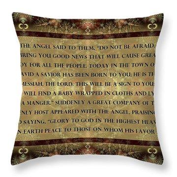 In A Manger Throw Pillow