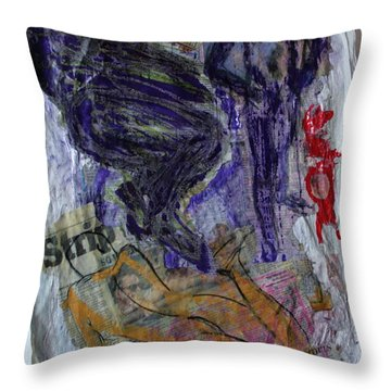 In A Vice Like Grip Of Hate Throw Pillow