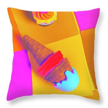 In Bubblegum Tones Throw Pillow