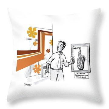 In Case Of Funky Emergency Break Glass Throw Pillow