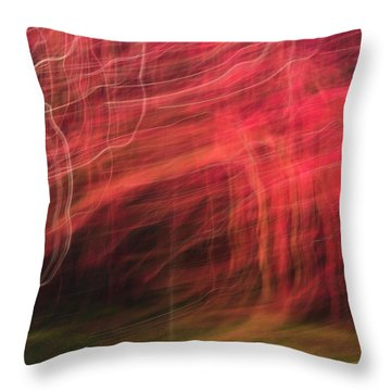 In Depth Of A Forest Throw Pillow