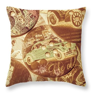 In Fashion Of Classic Cars Throw Pillow