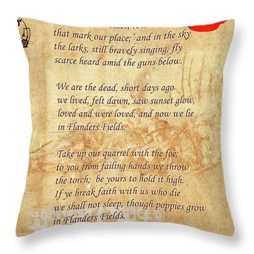 In Flanders Fields Throw Pillow