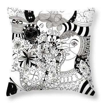 In Light And Dark Throw Pillow
