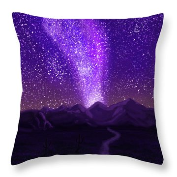 In The Arizona Night Throw Pillow