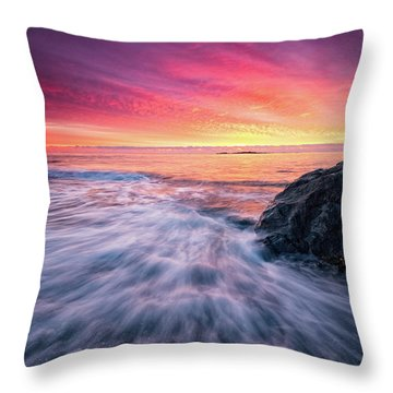 In The Beginning There Was Light Throw Pillow