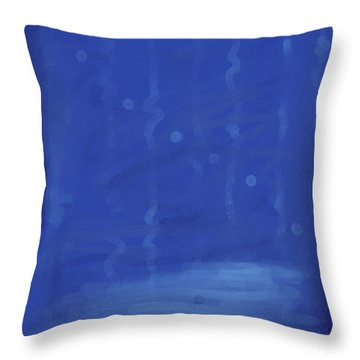 In The Blue Water Throw Pillow