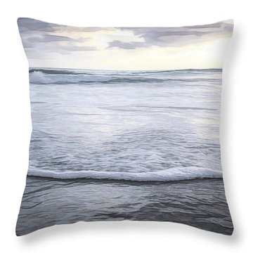 In The Evening Sketch Throw Pillow