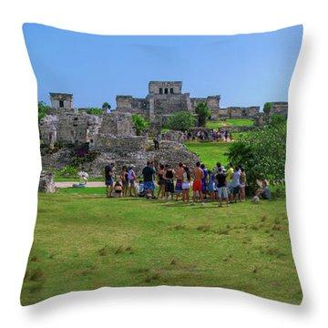In The Footsteps Of The Maya Throw Pillow