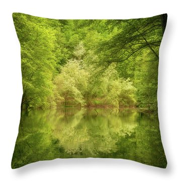 In The Heart Of Nature Throw Pillow