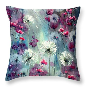 In The Night Garden - Pink Buds  Throw Pillow