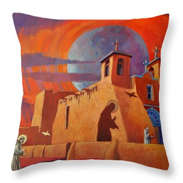 In The Shadow Of St. Francis Throw Pillow