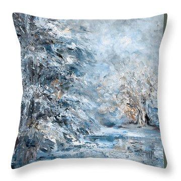 In The Snowy Silence Throw Pillow