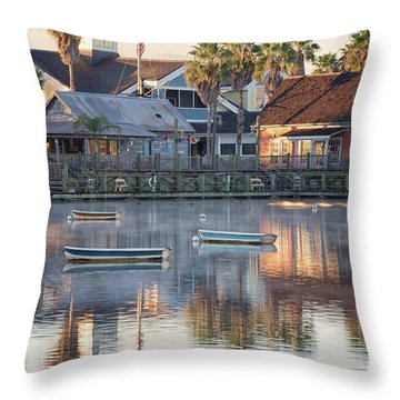 In The Stillness Of The Morn Fine Art Photography By Mary Lou Chmura Throw Pillow