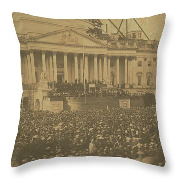Inauguration Of Abraham Lincoln, March 4, 1861 Throw Pillow