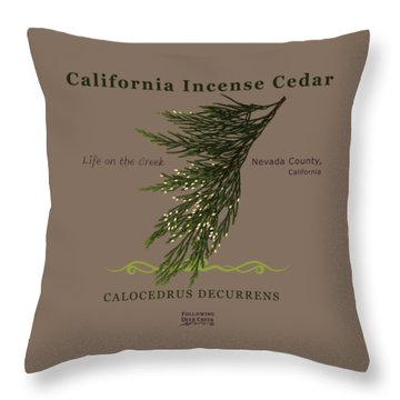 Incense Cedar - Brpwn Text Throw Pillow