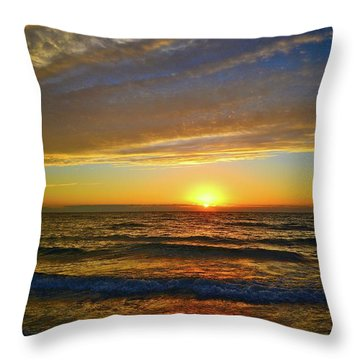 Throw Pillow featuring the photograph Incredible Sunrise Over The Atlantic Ocean by Lynn Bauer