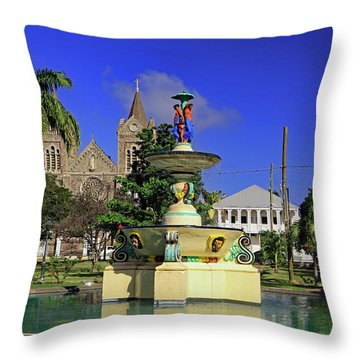 Throw Pillow featuring the photograph Independence Park by Tony Murtagh
