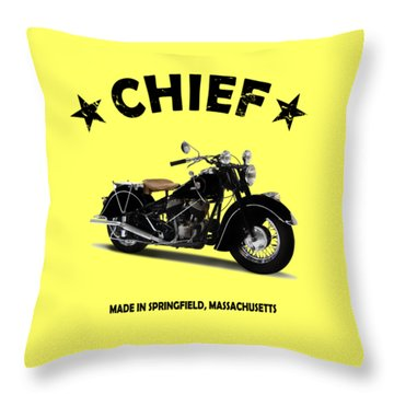 Indian Chief 1946 Throw Pillow