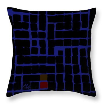 Throw Pillow featuring the digital art Industrial Night by Attila Meszlenyi