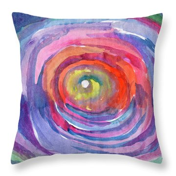 Throw Pillow featuring the painting Infinity Abstraction by Dobrotsvet Art