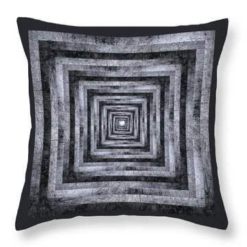 Infinity Tunnel Scratched Metal Throw Pillow