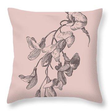 Inflorescence Blush Pink Flower Throw Pillow