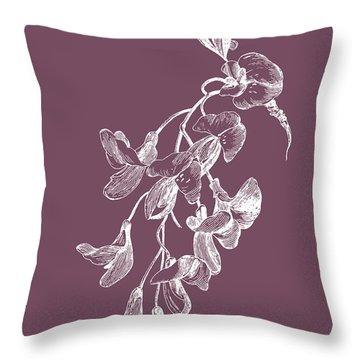 Inflorescence Purple Flower Throw Pillow