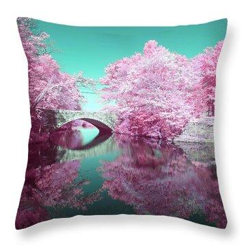 Infrared Bridge Throw Pillow