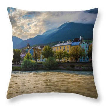 Inn River Throw Pillow