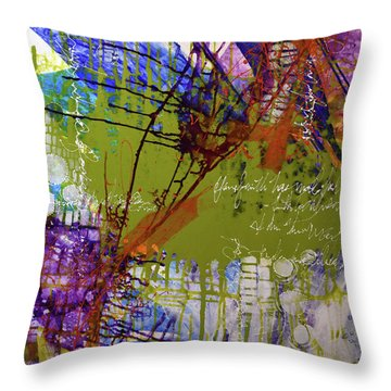 Throw Pillow featuring the mixed media Inner Faith by Kate Word