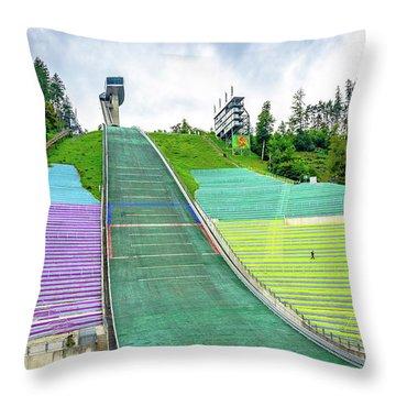 Innsbruck Olympic Stadium Throw Pillow