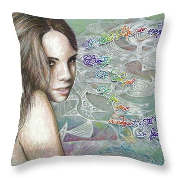 Insatiable Throw Pillow
